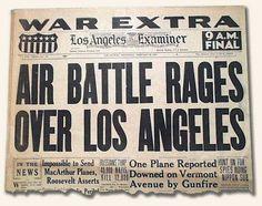 The Battle of Los Angeles | Alien UFO Sightings