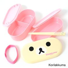 picture of Rilakkuma Two-Tier Lunch Box with Chopsticks 22
