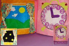 The Quiet Book Blog: Maria's Princess Quiet Book - curtains and clock