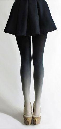Black Gradient Tights