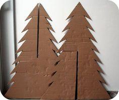 How to make a cardboard Christmas tree / Hoe maak je een kerstboom van karton