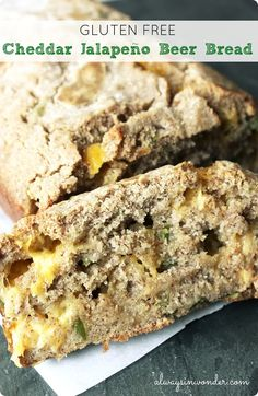 gluten free cheddar jalapeno beer bread from alwaysinwonder.com