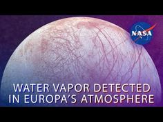 NASA's Hubble Space Telescope observations of Jupiter's icy moon Europa have revealed the presence of persistent water vapor – but, mysteriously, only in one hemisphere. Jupiter Moons, Nasa, Hubble Space Telescope, Jupiter's Moon Europa, Moon Orbit, Planets And Moons, Gas Giant, Our Solar System, Cosmic