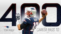 Tom Brady reaches 400-touchdown pass milestone