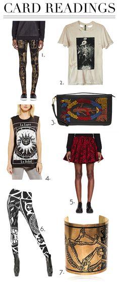 tarot card print clothing