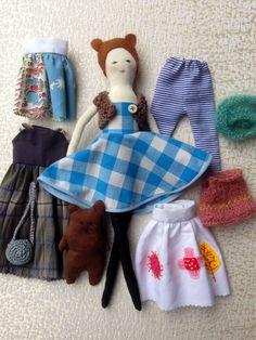 Dress+up+doll+Handmade+doll+modern+doll+doll+set++by+Dollisimo,+$55.00