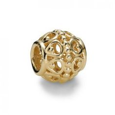 LY3613 Pandora 14ct Gold Gilded Cage Charm