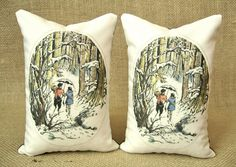 Lucy and Mr Tumnus - Chronicles Of Narnia - Bookends - Shelf Pillows, via Etsy (TwoStrayCats).