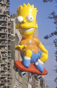 Bart Simpson Balloon In Macys Thanksgiving Day Parade New York