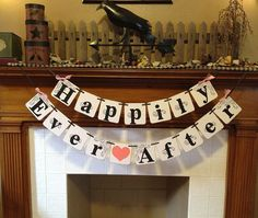Happily Ever After Wedding Banner Wedding Garland Sign - Wedding Decoration - Photo Prop - Wedding Photos -  wedding garland CUSTOM colors on Etsy, $23.50 CAD