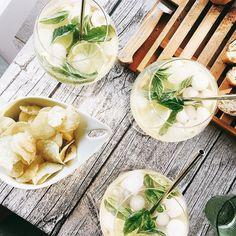 S U M M E R  #family #drinks #hugo #aperitivo #love #cosy #bbq #summer #nights #instagood #igers