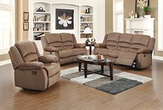 This 3-piece living room set offers a truly elegant touch to your home decor. Crafted from quality fabric and handy functionality, this beautiful #furniture rate...