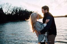 Sunset Engagement Photo Session || Lake || Winter || Memphis Engagement Photographer || Christen Jones Photography