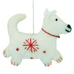 Global Crafts Handmade Set of Two Dog Holiday Ornaments