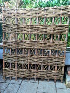 Woven willow trellis panels in a range of standard sizes or bespoke from £36.00 www.waterwillows.com Tel: 0845 020 4225