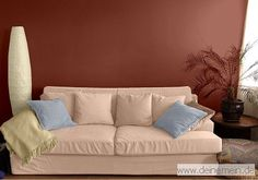 Farbgestaltung Im Wohnzimmer In Den Wandfarben: Toskanabraun   My Peach    My Loft