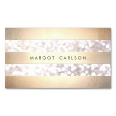 Elegant Bokeh Gold Colored Striped Light Gray Chic Business Card Templates. I love this design! It is available for customization or ready to buy as is. All you need is to add your business info to this template then place the order. It will ship within 24 hours. Just click the image to make your own!