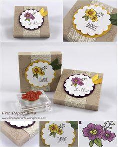 "Stampin' up! Envelope Punch Board Box ""Mini Jogurette"", Stampset I Like You, Mix Markers - Fine Paper Arts"