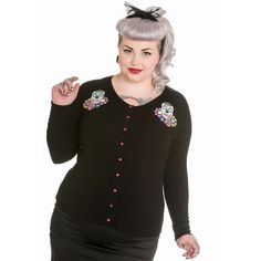 Sugar Skull  -  Calaveras Cardigan by Hell Bunny.  Plus Sizes 2x, 3x, 4x - imported from England.  http://www.sweetechoplus.com/tops/cardigans/calaveras-cardigan.html
