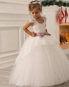 vestidoniña  elegante  niñas  hermoso  glamour Dress Wedding 823f059865dc