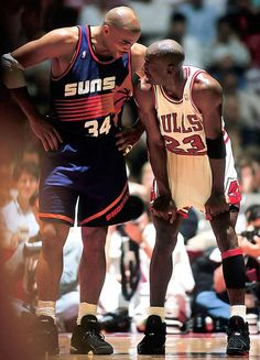 Sir Charles Barkley and Michael Jordan. NBA Finals 1993