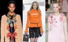 Fashion Week Herbst/Winter 2015/16: Stilisierte Broschen, klimpernde Hüftgürtel und üppige Ketten – wir zeigen die überraschenden Schmucktrends der neuen Saison.