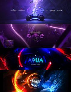 Youtube Banner Design, Youtube Design, Youtube Banners, Best Web Design, Site Design, Header Design, Layout Design, Youtube Banner Backgrounds, Banner Design Inspiration