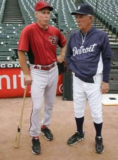 Alan Trammell and Jim Leyland at Comerica Park in Detroit, Michigan   .........<3 Tram