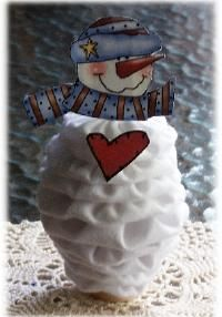 yo yo snowman... not a tutorial, but general instructions are included.   #YoYo  #SuffolkPuffs