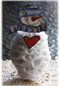 yo yo snowman... not a tutorial, but general instructions are included.   #YoYo  #SuffolkPuffs