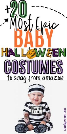 Looking for an EPIC baby Halloween costume? Check out these seriously cute baby Halloween costumes you can snag from amazon (perfect if you're a last minute person like me). Whether you need baby girl Halloween costumes or Halloween costumes for boys, I've got you covered. These costumes are also perfect to create family Halloween costumes too! Make baby's first Halloween costume a memorable one with one of these cute costumes. Lots of infant Halloween costume ideas too!