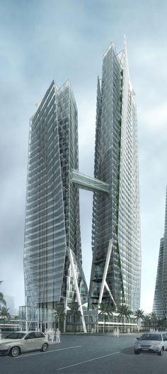 Modern Hakka Xiamen Towers, Xiamen by Paul Lukez Architecture