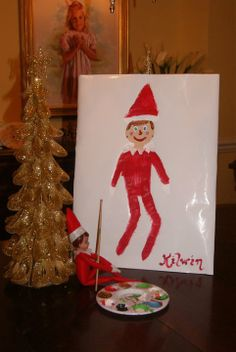 elf self-portrait. cute!