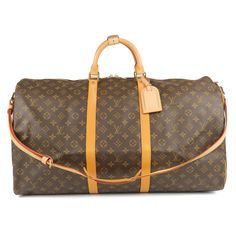 LOUIS VUITTON Monogram Keep All Bandouliere 60 Bag M41412 Used F/S
