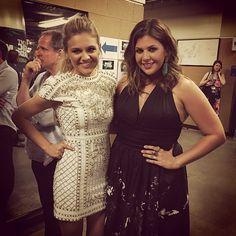 #CMTawards Backstage #girlpower sesh. Kelsea Ballerini + Hillary Scott