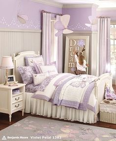 Little girl room : Maggies Room  Love the Purple! new-house-decorating