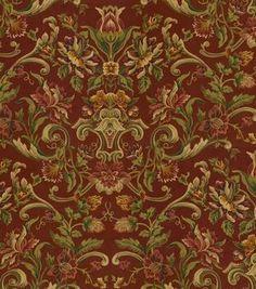 SMC Swavelle Millcreek Home Decor Print Fabric Winston Century Garnet