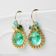 Palm Earrings Magdalena Borejko - designer gemstone jewelery