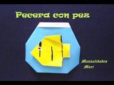 Origami - Papiroflexia. Pecera con peces
