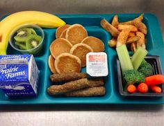 Farm fresh school lunch this week in Rockwood School District, MO, with a total finger food menu