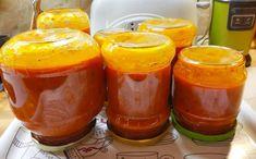 Vynikajúca pečená paradajková omáčka - SUPERBABKY Chili, Pudding, Canning, Desserts, Food, Tailgate Desserts, Deserts, Chile, Custard Pudding