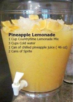 BBQ Party Food Ideas for a Crowd - this Pineapple Lemonade is so easy and SO yum. BBQ Party Food Ideas for a Crowd - this Pineapple Lemonade is so easy and SO Bbq Party, Bbq Food Ideas Party, Cheap Party Food, Bbq Ideas, Birthday Food Ideas, Easy Party Food, Food For Parties, Party Food Bars, Luau Birthday