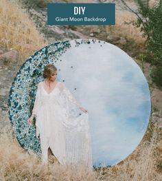 DIY: giant moon backdrop