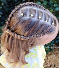 Peinados para ninas con cabello corto trenzas
