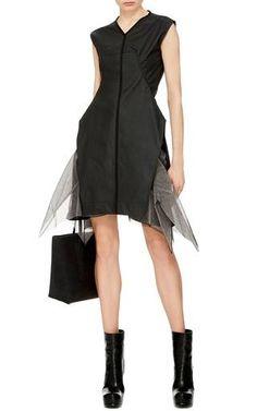 Black Cotton Aurelia Tunic by Rick Owens Now Available on Moda Operandi