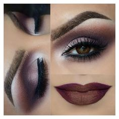 40 Eye Makeup Looks for Brown Eyes ❤ liked on Polyvore featuring beauty products, makeup, eye makeup, eyes, lips and beauty