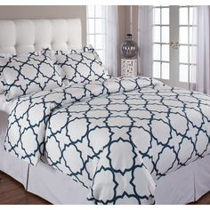Echelon Home Quatrefoil Duvet Cover Set & Reviews | Wayfair