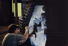 FX work on the set of The Fly