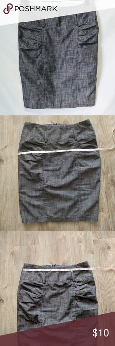 Grey High Waisted Pencil Skirt - My Michell My Michell grey pencil skirt junior size 5. Great career/work skirt. Has a high waist with loops for a belt (belt not included). Also has a small slit in the back. Excellent condition. My Michelle Skirts Pencil