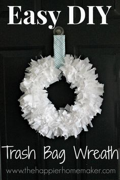 DIY Trash Bag Wreath so easy and cheap!!